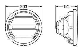 Lamp Insert Dimensions in mm.