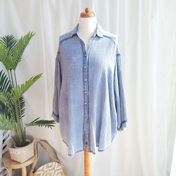 Blouse/jurk Olga jeansblauw