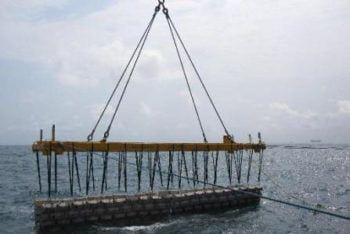 Concrete anchoring - concrete matresses