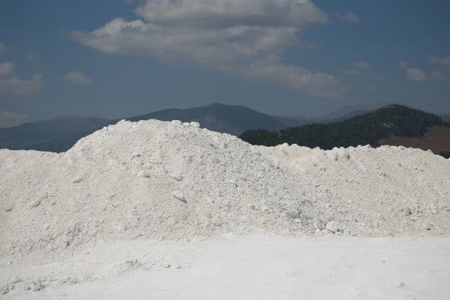 UltraCarb pile in landscape