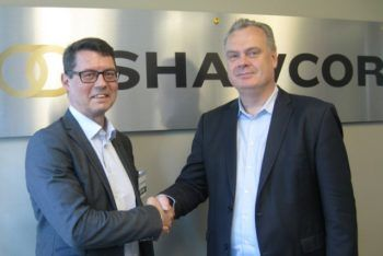 Leif Boström CEO for LKAB Minerals and Henri Tausch, group president for Shawcor Pipeline performance