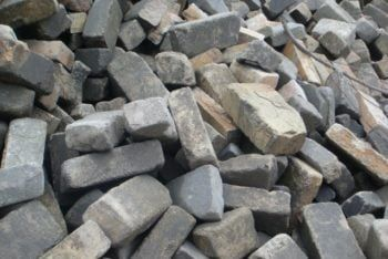 Recycled Refractory Bricks pile