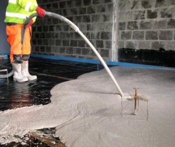 pumping classic gypsol flowing screed