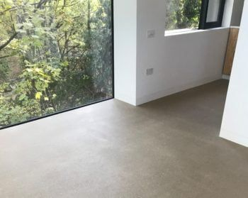 Anhydrite floor screed polished floor solution