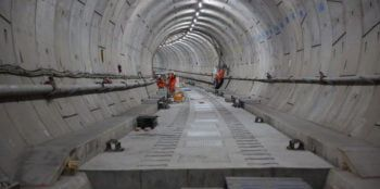 Floating track slab concrete london underground tunnel