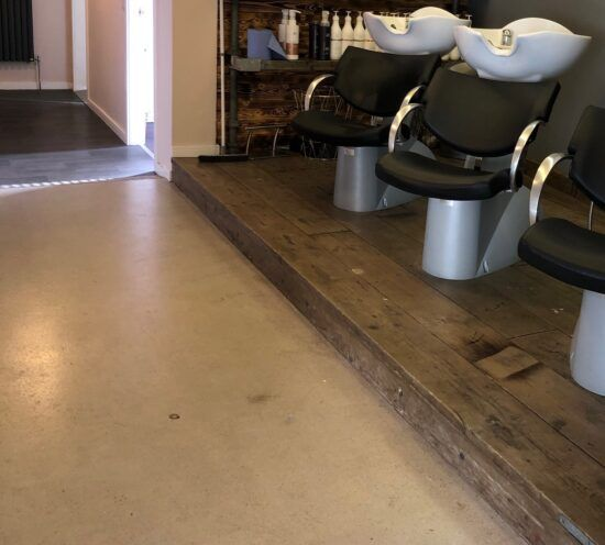 Rustic Floor screed in Scotland Salon