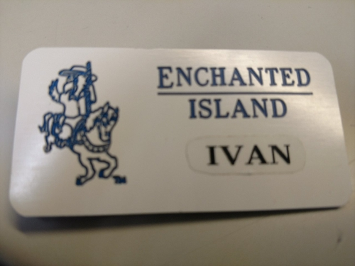 Enchanted Island Supplied Name Badge