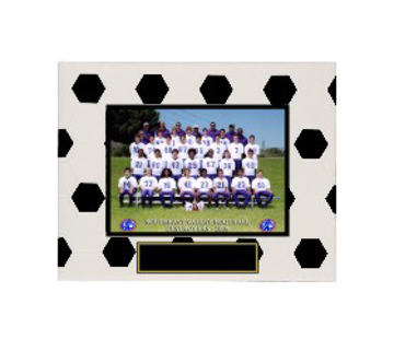 "Picture of (CLOSEOUT) Soccer Sport Picture Frame (Holds 5"" x 7"" Photo)"