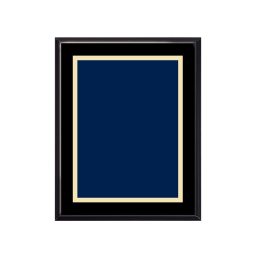 "Picture of V1100B 8"" x 10"" Veneer Finish Plaque with choice of solid brass engraving plate"