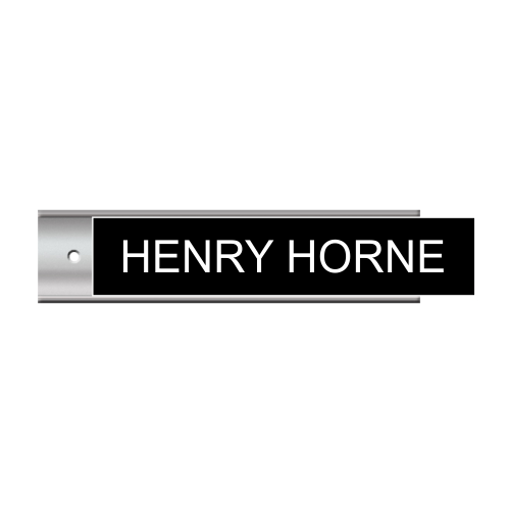 2 x 10 Silver Wall Plate Sign Holder | Black Engraves White