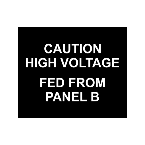 2.5x3 Electrical Panel Tag | Black Engaves White