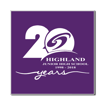 5 x 5 Engraved Plastic Sign | Purple Engraves White