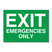 5 x 7 Engraved Plastic Sign | Green Engraves White