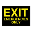 5 x 7 Engraved Plastic Sign | Black Engraves Yellow