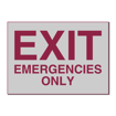 5 x 7 Engraved Plastic Sign | Grey Engraves Maroon