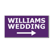 5  x 10  Engraved Plastic Sign | Purple Engraves White