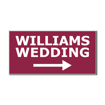5  x 10  Engraved Plastic Sign | Maroon Engraves White