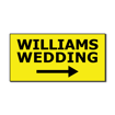5  x 10  Engraved Plastic Sign | Yellow Engraves Black