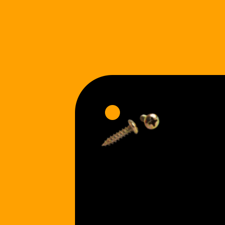Rounded Corners | Holes Screws [+$1.00]