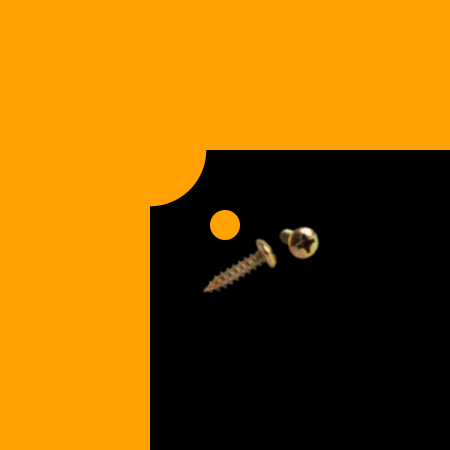 Notched Corners | Holes Gold Screws [+$1.00]