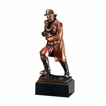 "11 1/2"" RFB064 Fireman Child American Hero Award"