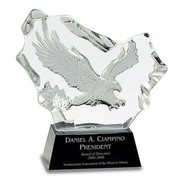 Crystal Eagle In Flight Award | Engraving Included