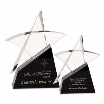 Rising Star Crystal Award | 2 Sizes Available | Engraving Included