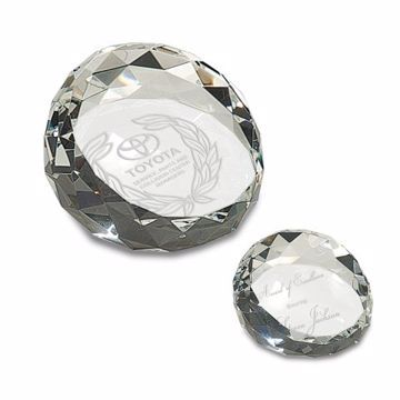 Crystal Paperweight | 2 Sizes Available | Engraving Included