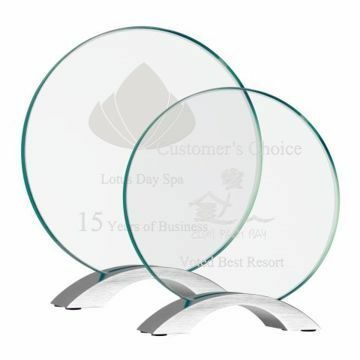 Round Glass Curve Award | 2 Sizes Available | Engraving Included