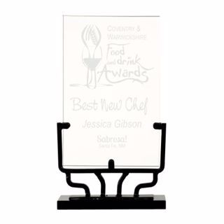 """Vintage Glass Award 9 1/2"""" 