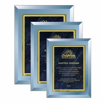 Blue Mirror Plaque | 3 Sizes Available | Engraving Included