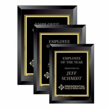 Black Glass Plaque | 3 Sizes Available |  Engraving Included