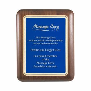 "Elliptical Edge Plaque Blue 8"" x 10"" 