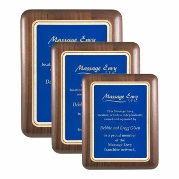 Elliptical Edge Plaque Blue | 3 Sizes Available | Engraving Included