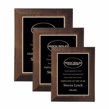 Large Bevel Walnut Plaque | 3 Sizes Available | Engraving Included