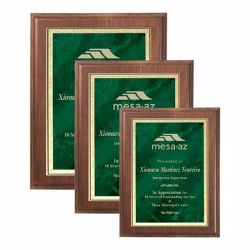 Emerald Marble Plate Plaque | 3 Sizes Available | Engraving Included
