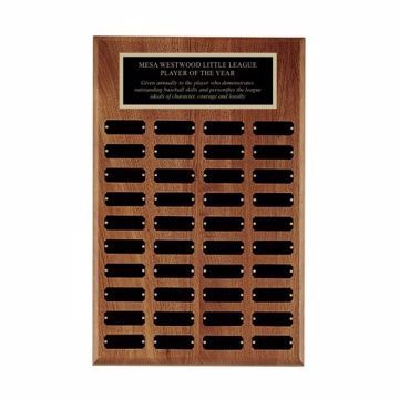 "Solid Walnut Perpetual Plaque 13"" x 20"" 