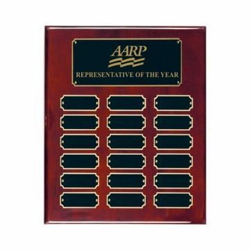"Rosewood Piano Finish Perpetual Plaque 10 1/2"" x 13"" 