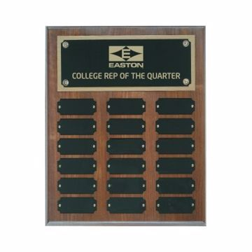"Solid Walnut Perpetual Plaque 10 1/2"" x 13"" 