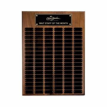 "Solid Walnut Perpetual Plaque 18"" x 24"" 
