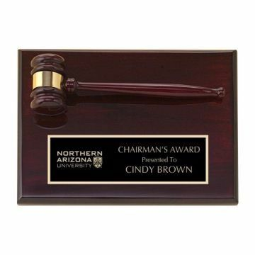 "Rosewood Gavel Plaque 9"" x 12"" 