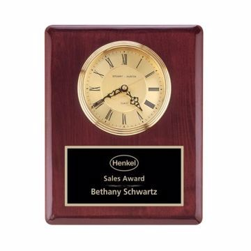 "Wall Clock Rosewood Piano Finish 10 1/2"" x 13"" 