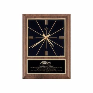 "Solid Walnut Wall Clock Traditional 8"" x 10"" 