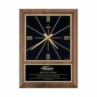 "Solid Walnut Wall Clock Traditional 9"" x 12"" 