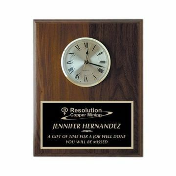 "Wall Clock Solid Walnut 8"" x 10"" 