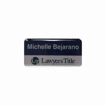 Epoxy Name Tag 1.5 x 3 Silver