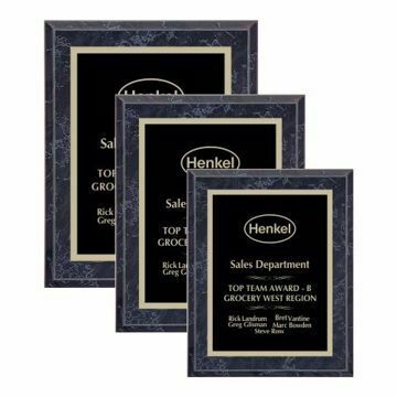 Value Black Marble Plaque | 3 Sizes Available | Engraving Included