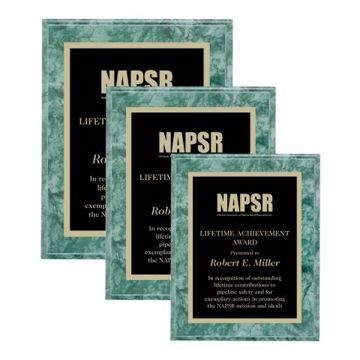 Value Emerald Marble Plaque | 3 Sizes Available | Engraving Included