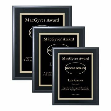 Value Matte Black Plaque | 3 Sizes Available | Engraving Included
