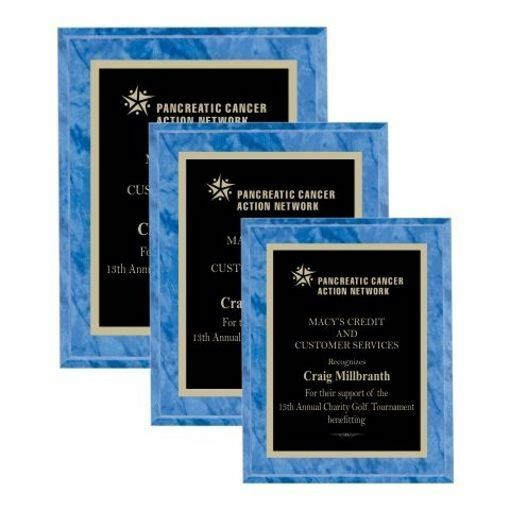 Value Sapphire Marble Plaque | 3 Sizes Available | Engraving Included